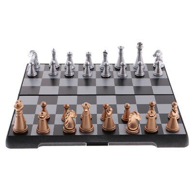 Magnetic Chess Set With Folding Chess Board Chessman for Kids Adults Gift