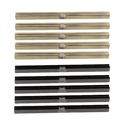 10pcs Purse Wallet Frame Bar Edge Clasp Metal Openable Edge Replacement 19cm