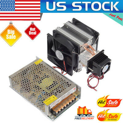 12V Semiconductor Refrigeration Thermoelectric Peltier Air Cooler Power Supply