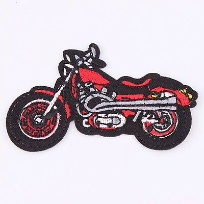 Patches Cartoon Motorcycle Embroidered Iron On Patch Clothing Jacket Applique