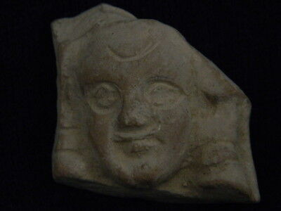 Ancient Teracotta Head Bactrian C.300 BC #TR5934