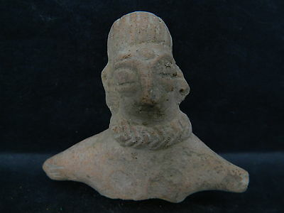 Ancient Teracotta Indus Valley Mother Goddess Bust 500 BC No Reser #SG1862