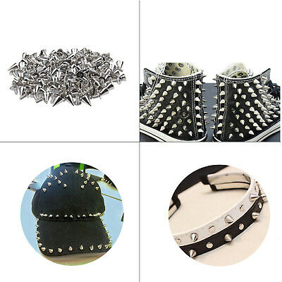 Screwback Studs Silver Spike Cone for Rock Leathercraft Jackets Jean Shoes Cap