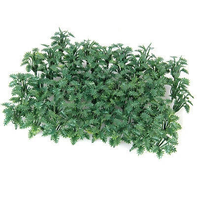 50pcs Green Ground Cover Grass Model with Crushed Leaves for Diorama Wargame