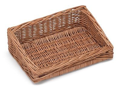 Sloping Wicker Display Basket 30x20cm