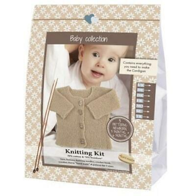Go Handmade Knitting Crochet Kit Baby Cardigan - Walnut