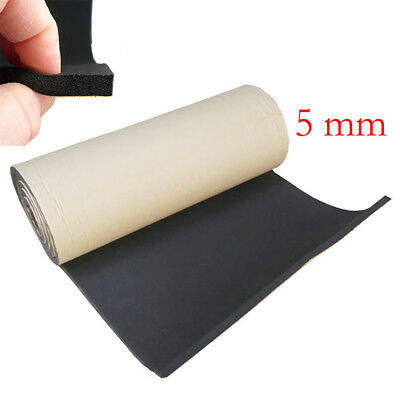 New 5mm Car Soundproofing Deadening Insulation Foam Mat Acoustic Pad 50cm*100cm