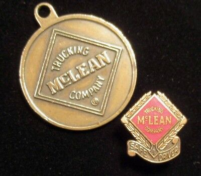 McLean Trucking Safe Driver Lapel Pin & 50 Year Service Anniversary Pin