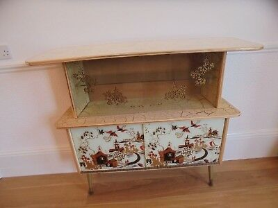 1960's 1950's Oriental Chinese Japanese Display drinks cabinate case Storage