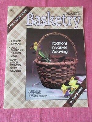 Craft Instruction, Booklet on Basketry, Weaving, Hand Woven Baskets