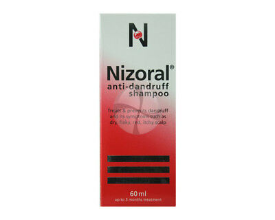 Nizoral anti Dandruff Shampoo for dry flaky itchy dandruff from a Pharmacy 60ml