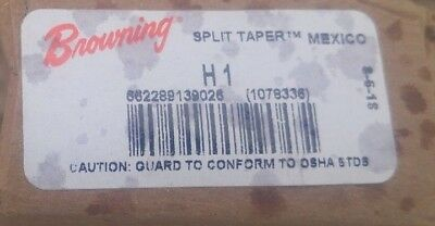 """New Browning H1 Split Taper Hub 1"""" Bore Pulley Gear Adapter"""