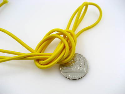 5m of 3mm yellow Round Elastic cord sewing accessories 3mm stretch bungee cord