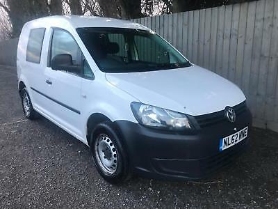 2012 62 Volkswagen Caddy 1.6TDI 75PS BlueMotion Tech C20 CREW VAN NO VAT P/X