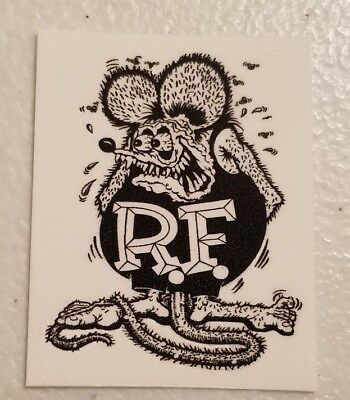 Rat Fink Strat Hot Rod Waterslide Headstock Decal