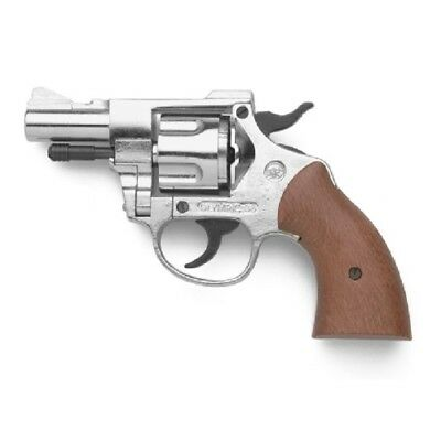 Bruni 9mm Olympic Top Firing Blank Revolver in Nickel, Sporting or Training, New