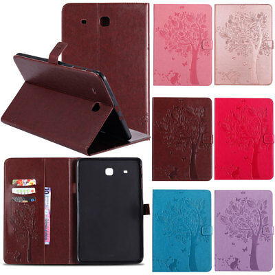 Wallet Leather Flip Stand Case Cover For Samsung Galaxy Tab E 9.6 SM-T560 Tablet