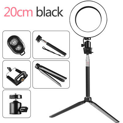 """8"""" Dimmable 5500K LED Ring Light Kit +Stand for Makeup Phone Camera Selfie H6J5N"""