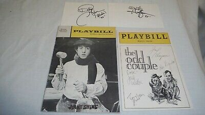 BROADWAY Cast signed PLAYBILL ✔THE ODD COUPLE & ✔DUSTIN HOFFMAN autograph cards