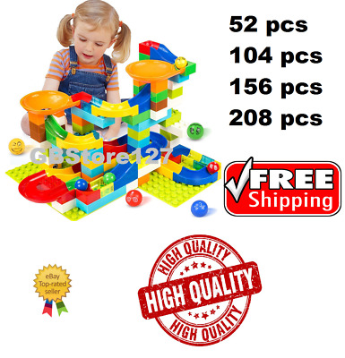 165pcs Small Size Marble Run Puzzle Maze Race Track Game Toy Building Block T2