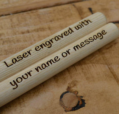 Personalised Drumsticks Size 5A Drum Sticks Custom Name Message Birthday Gift