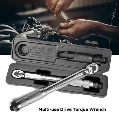 1/4'' Multi-use Drive Torque Wrench Adjustable Hand Spanner Ratchet Repair Tool