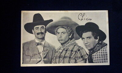 MARX BROTHERS RARE original autographs Chico Harpo Groucho, Charlie Chaplin MGM