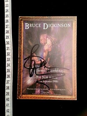 IRON MAIDEN BRUCE DICKINSON autograph Autogramm HEAVY METAL JUDAS PRIEST SAXON