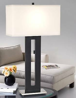 Modern Table Lamp Black Metal for Living Room Family Bedroom Bedside Nightstand