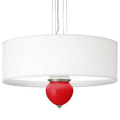 """Bright Red Cleo 24"""" Wide Pendant Chandelier"""