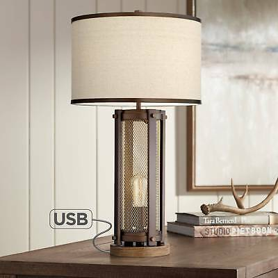 Otto Antique Brass Night Light Table Lamp With Usb Port