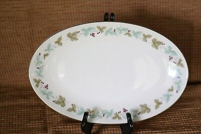 "Fine China of Japan - MSI - VINTAGE - 6701 - 9 7/8"" Oval Relish Plate Underplate"
