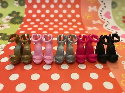 Doll Shoes ~ 5PAIRS Mattel Barbie Fashion High Heel Sandal Shoes #S2040 NEW