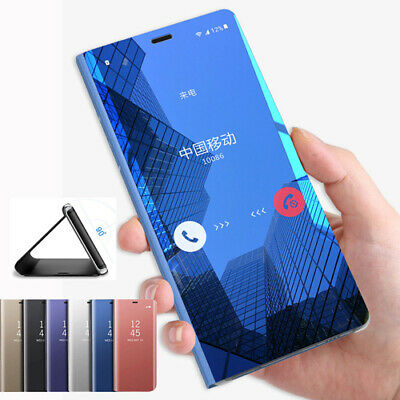 For Samsung Galaxy A7 2018/J8/7/6/4 2018 Smart View Mirror Flip Stand Case Cover
