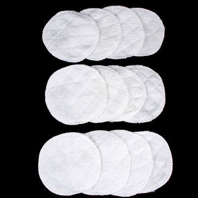 Soft 12pcs Reusable Nursing Breast Pads Washable Absorbent Baby Breastfeeding