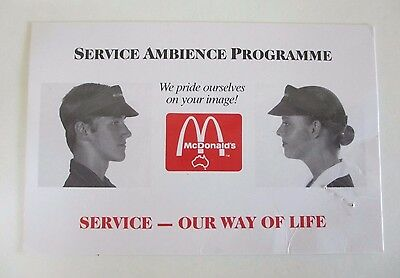 McDonald's Service Ambience Programme - Dress Policy Card - Australia - 1990s