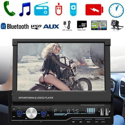 "DC12V 7"" 1DIN Car Touch 1080P LCD Stereo MP5 Player GPS Bluetooth Music SD Card"