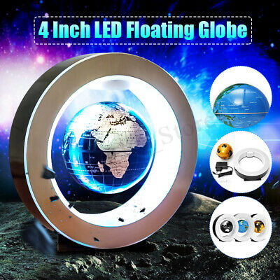 LED Magnetic Levitation Floating Earth Globe Map O Shape Base Gift Decor