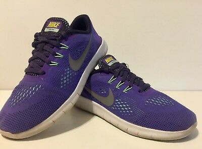 259abf728321 Nike FREE RN Running SHOES GIRLS Youth Size 3.5 Purple