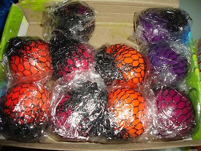 Squishy Mesh Ball - Stress Reliever Squeeze Toy Colourful Slime. Buy 1 - 12 Save