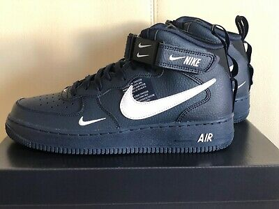 promo code 4d128 e6f3f Nike Air Force 1 Mid  07 LV8 Utility Obsidian AF1 Sneakers 804609-403 Shoes