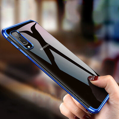 For Samsung Galaxy A7 2018 A8S A9 Luxury Slim Plating Clear Soft TPU Case Cover
