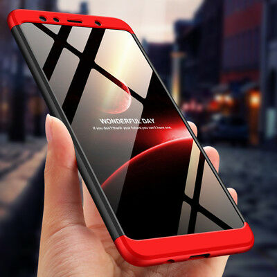 For Samsung Galaxy A7 2018 A6 A9 360° Full Protect Cover Hybrid Hard Armor Case