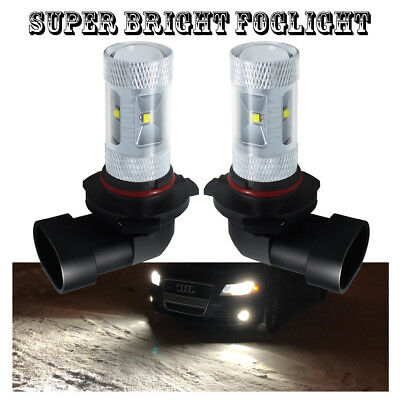 2 Pieces 9005 LED DRL White Fog Driving Light Bulbs 30W 6000K Super Bright
