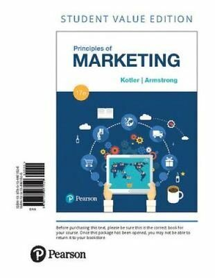 Principles of Marketing, Student Value Edition by Gary Armstrong and Philip...