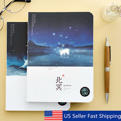 Luminous Ocean Notebook Blank Sketchbook Paper Drawing Journal Travel Diary Book