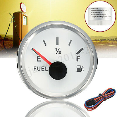 9~32V DC 52mm Auto Car Boat Fuel Tank  Level Gauge w/ Background Light+Line