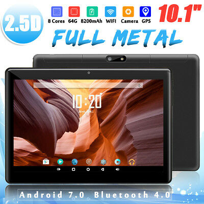 10.1'' Android 7.0 Tablet PC 4G+64GB Octa 8 Core HD Camera WIFI bluetooth 2 SIM