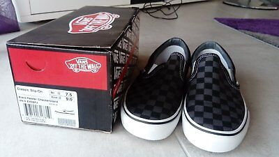 Vraies True Vans Classic Slip On Checkerboard Damier Taille Size 40 Neuves