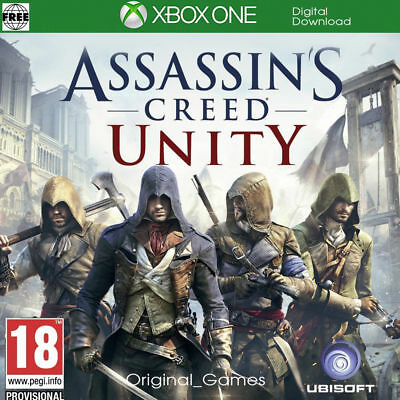 Assassin's Creed Unity Xbox One Key, No CD/DVD Quick Delivery